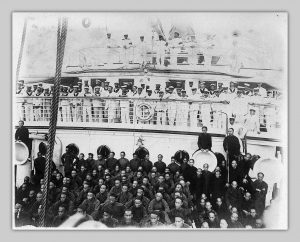 Sailors and Chinese labourers abroad the Empress of India (Chung Collection, CC_PH_02426)